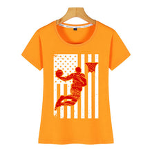 Load image into Gallery viewer, American Flag & Basketball Tshirt - Lifestyle Products & Family Shop