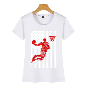 American Flag & Basketball Tshirt - Lifestyle Products & Family Shop