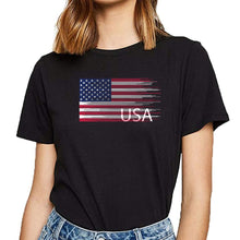 Load image into Gallery viewer, T Shirt Women USA Flag - Lifestyle Products & Family Shop