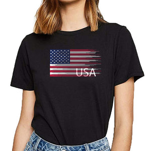 T Shirt Women USA Flag - Lifestyle Products & Family Shop