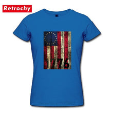 Load image into Gallery viewer, Vintage America First 1776 Betsy Ross Flag T-shirt - Lifestyle Products & Family Shop