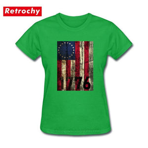 Vintage America First 1776 Betsy Ross Flag T-shirt - Lifestyle Products & Family Shop