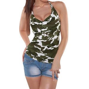 Camouflage Halter Tank Tops - Lifestyle Products & Family Shop