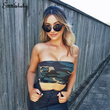Load image into Gallery viewer, Women Strapless Camouflage Crop Top - Lifestyle Products & Family Shop