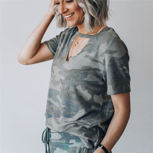 Camouflage Short Sleeve Tops - Lifestyle Products & Family Shop