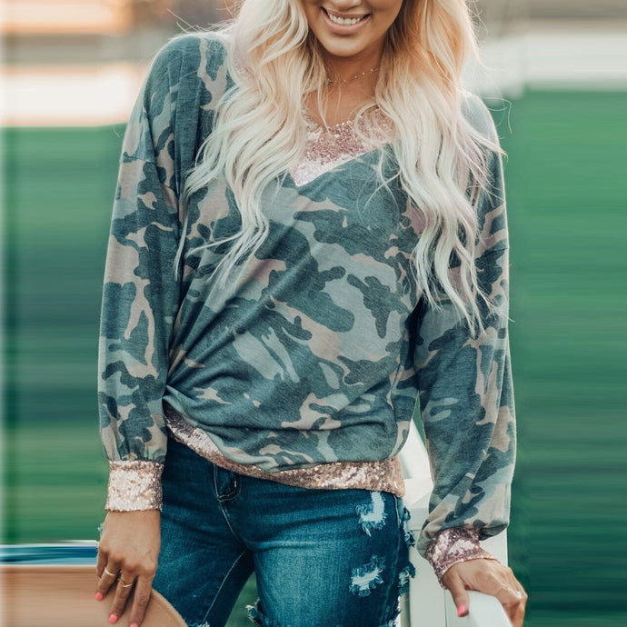 Camouflage Long Sleeves Tops - Lifestyle Products & Family Shop