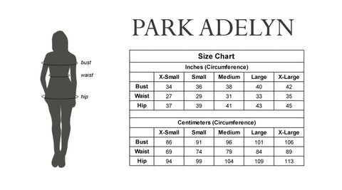 PARK ADELYN SIZING CHART