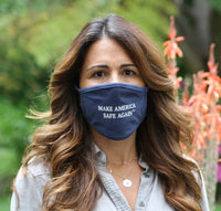 Affordable & Beautiful Make America Safe Again Blue Mask