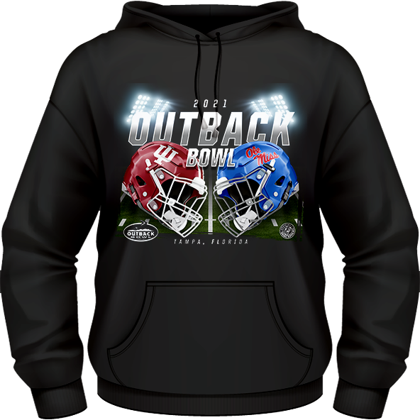 INDIANA HOOSIERS VS. OLE MISS REBELS 2021 OUTBACK BOWL GAME HOODIE