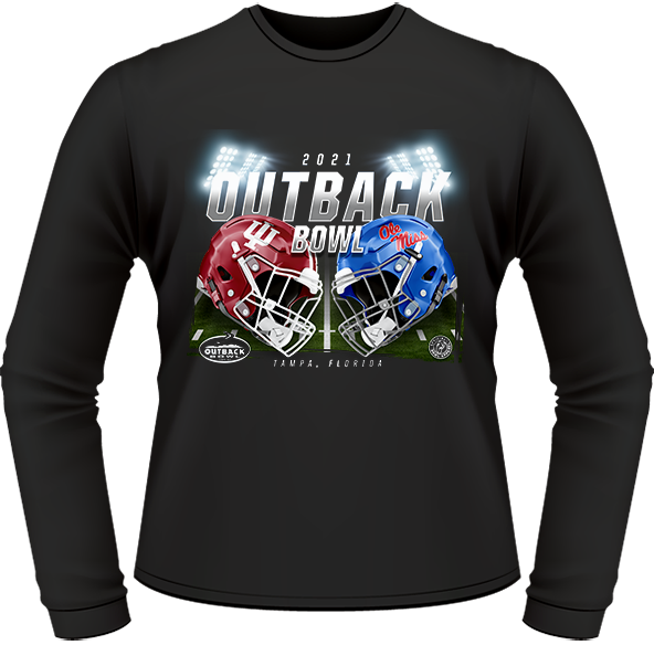 INDIANA HOOSIERS VS. OLE MISS REBELS 2021 OUTBACK BOWL GAME LONG SLEEVE