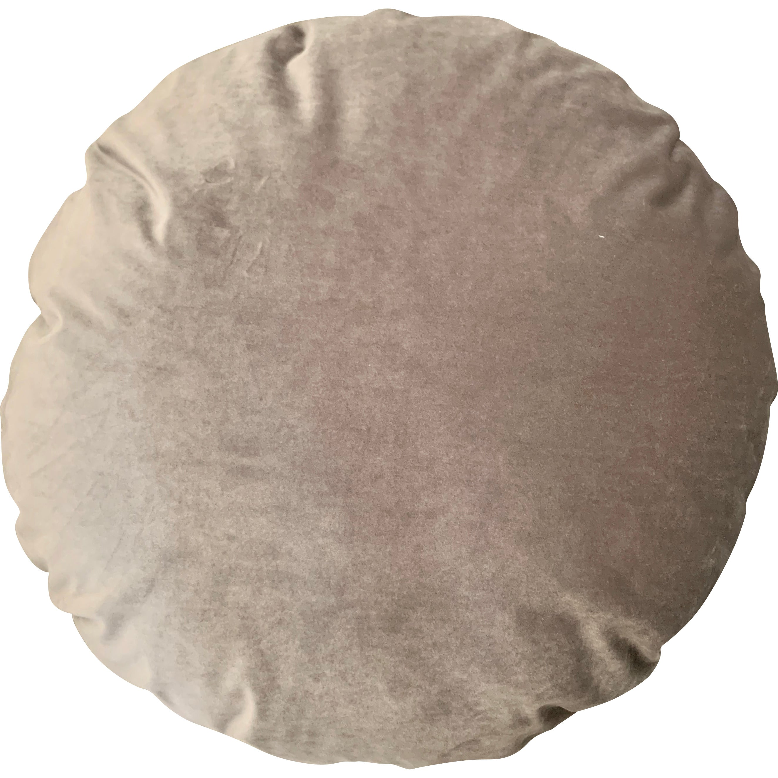 Bed and Philosophy Shaved Velvet and Linen Round Pillow