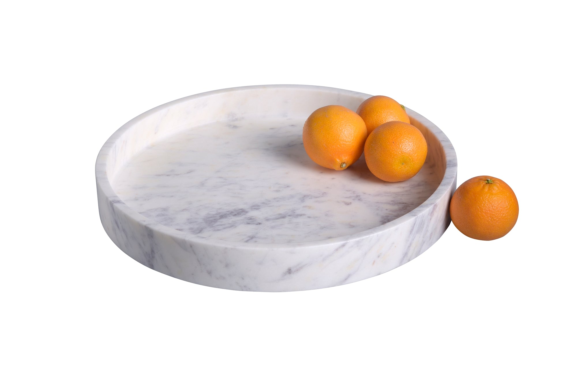 "Large Round Marble Tray 12"" diameter"