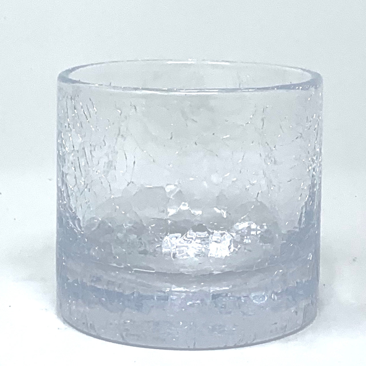 Whiskey Glass Crackle XL