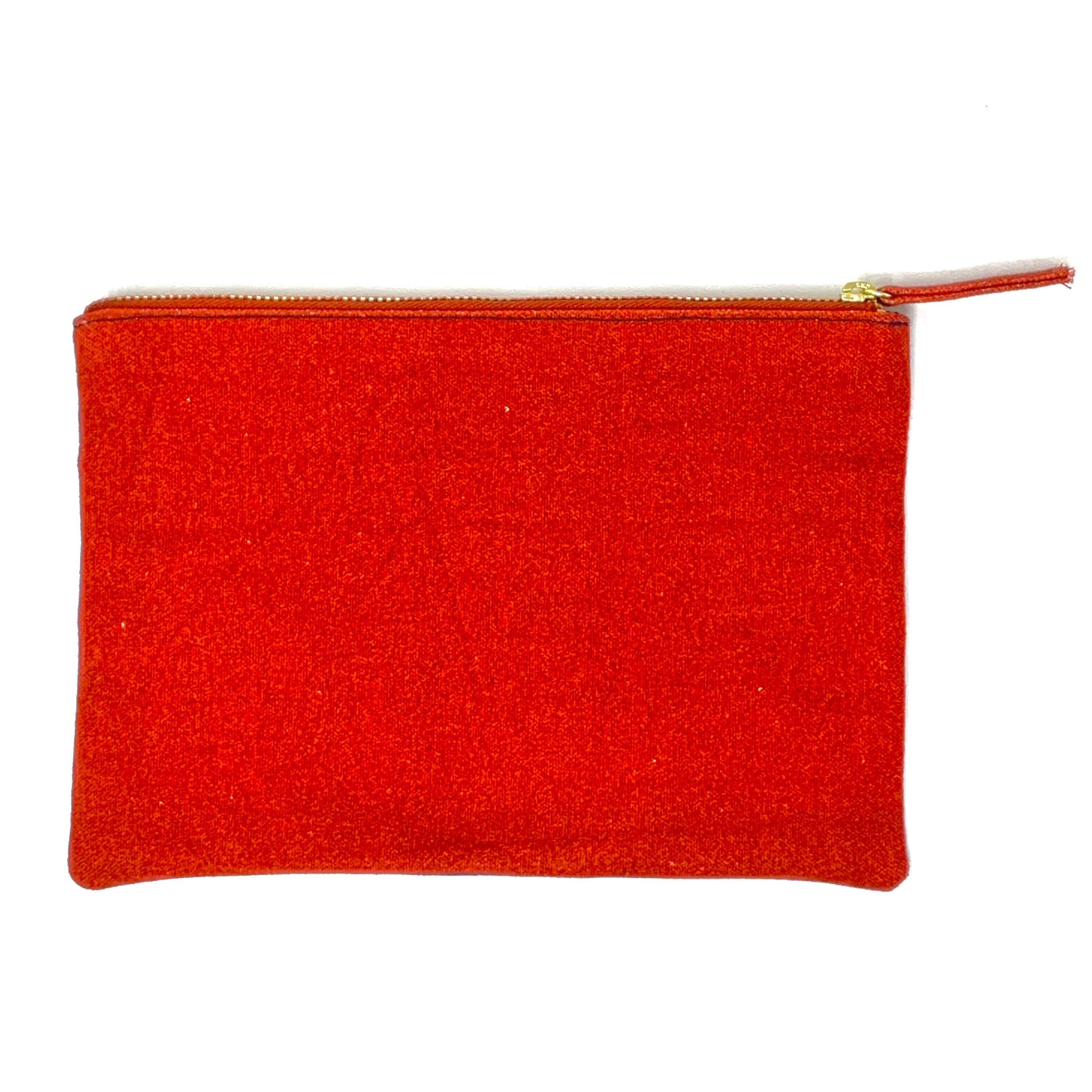 Embroidered Canvas Pouch