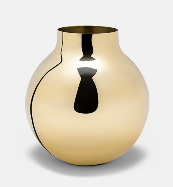 Boule Vase Brass Large Design Olivia Herms