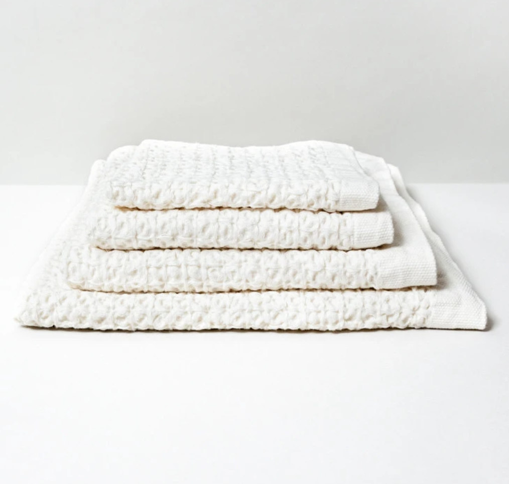 XL Lattice Linen Bath Towel