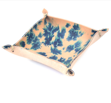 leather indigo dyed tray