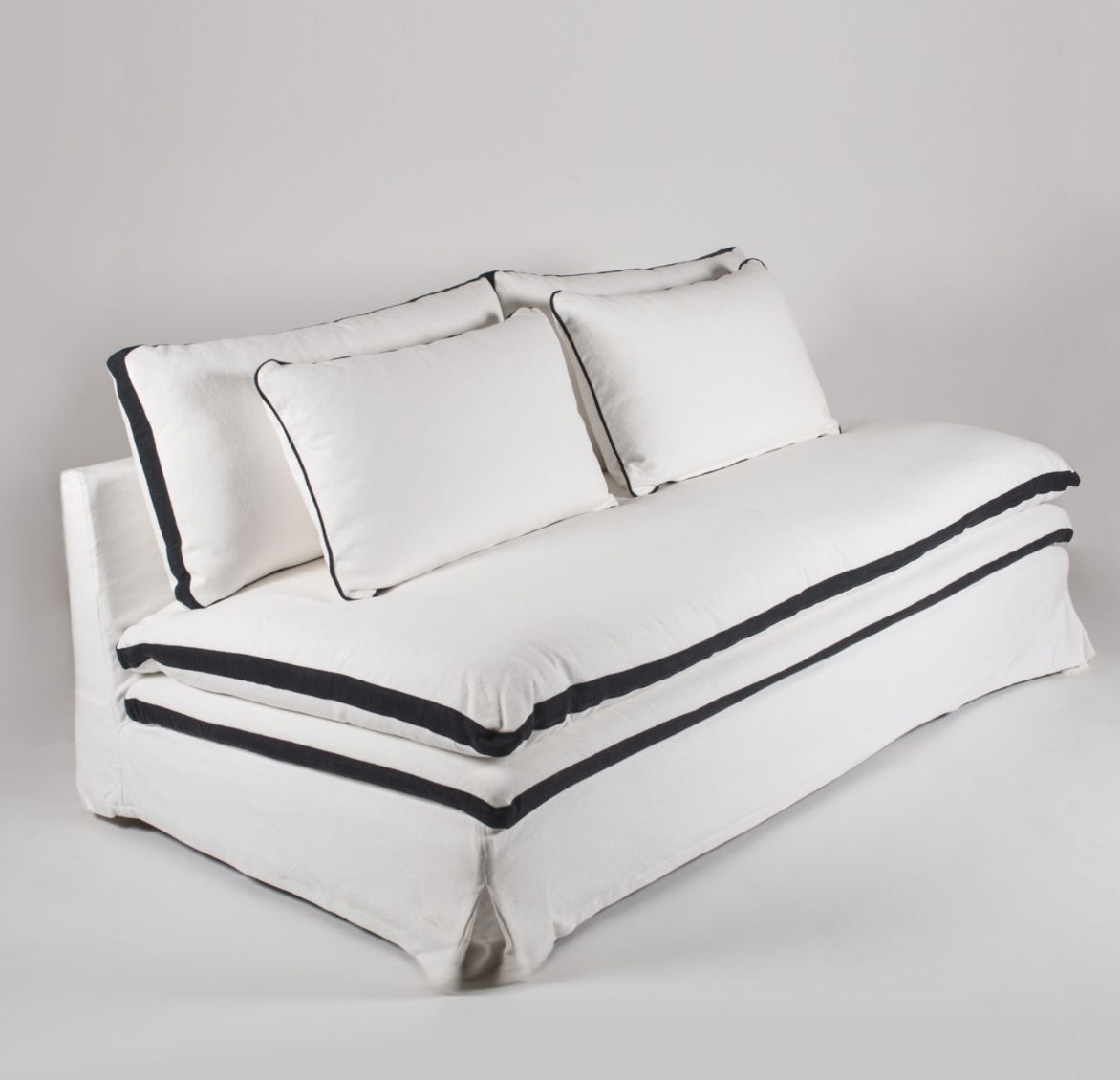White Coco Chanel Loveseat