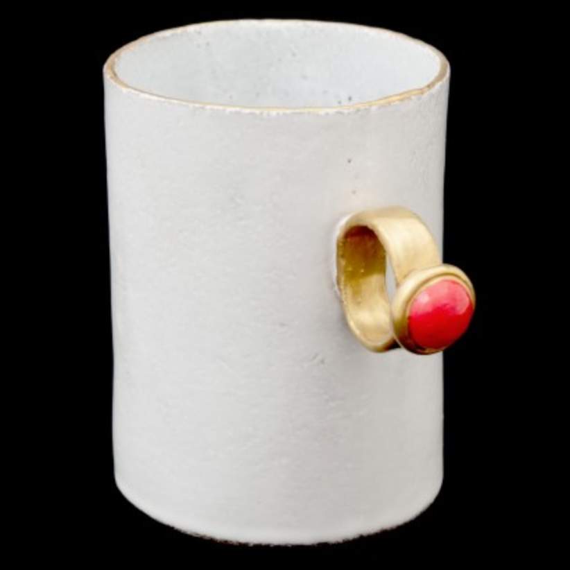 Simple Ceramic Ring Cup