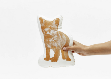 Areaware Fauna Pico Fox Cushion