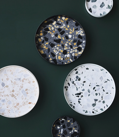 Lucie Kass Tray Terrazzo Metal