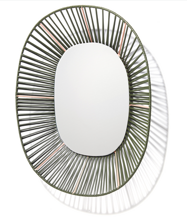 Ames Vibrant Living Cesta Oval Shaped Mirror