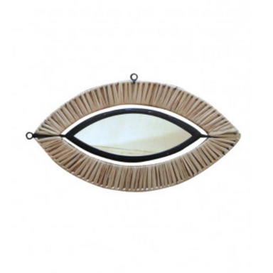 Honoré Deco Raffia Eye Mirror