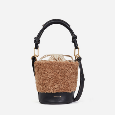 Vanessa Bruno Holly Bucket Bag in Sheepskin