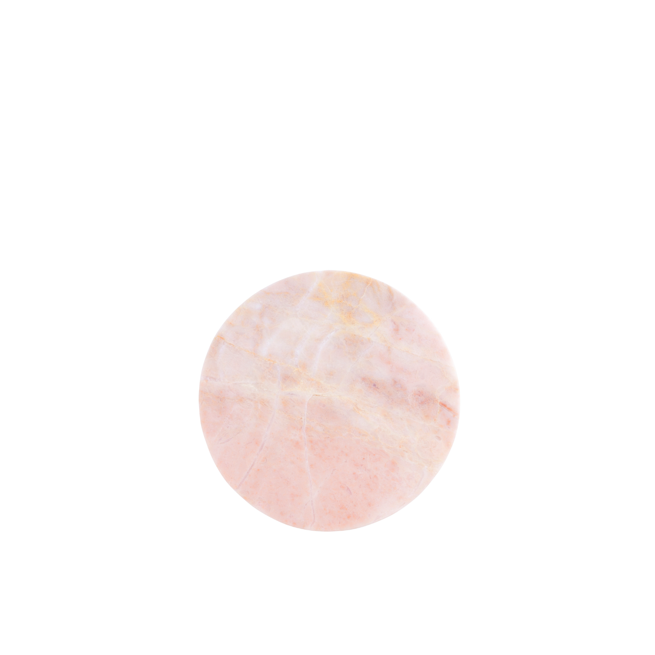 Stoned High on Marble Pink Round Platter S
