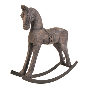 Schlittler Small Rocking Horse, Mango Wood