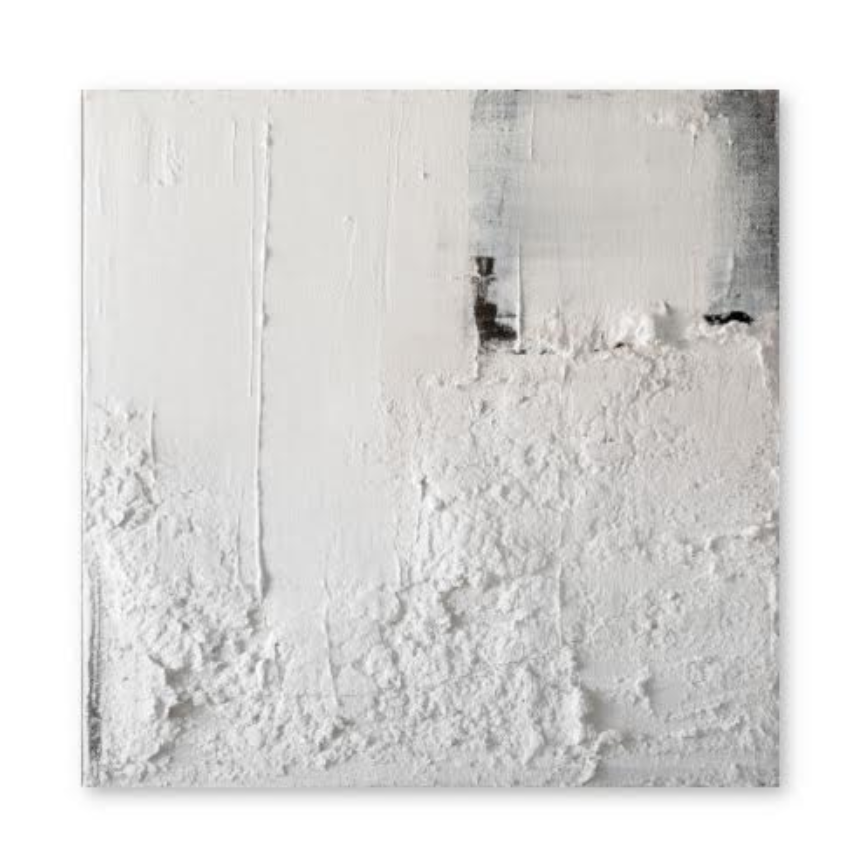 "Textured White Painting # 2 24 x 24"" by Sand Breton"