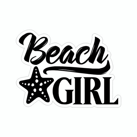 Beach Girl Vinyl Car Sticker