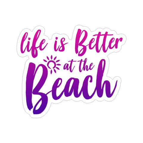 Life Is Better At The Beach Vinyl Car Sticker