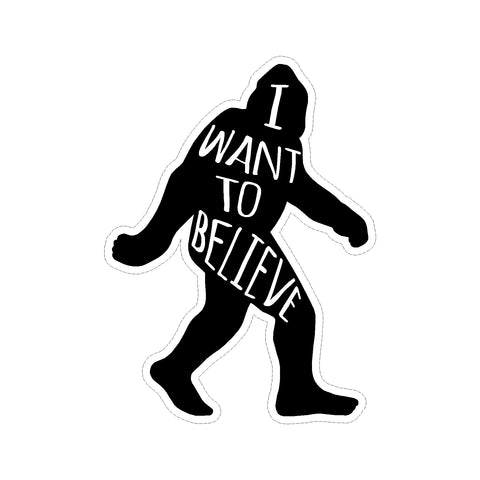 Bigfoot Believer Society Vinyl Car Sticker