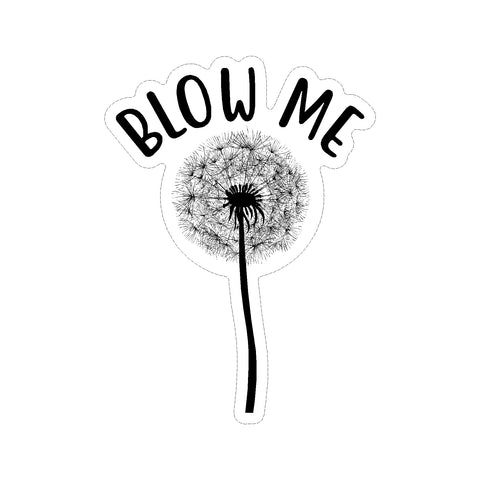 Blow Me Dandelion Flower Vinyl Car Sticker
