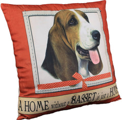 Basset Hound Dog Breed Throw Pillow