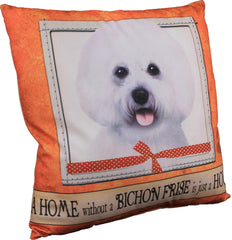Bichon Frise Dog Breed Throw Pillow