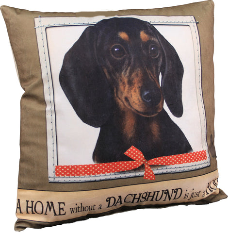 Dachshund Black Dog Breed Throw Pillow