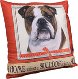 Bulldog Dog Breed Throw Pillow