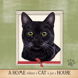 Black Cat Dog Breed Throw Pillow