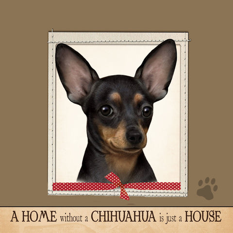 Chihuahua Black Dog Breed Throw Pillow