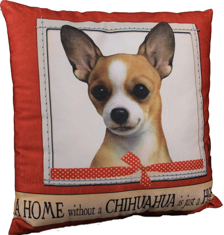 Chuhuahua Tan Dog Breed Throw Pillow
