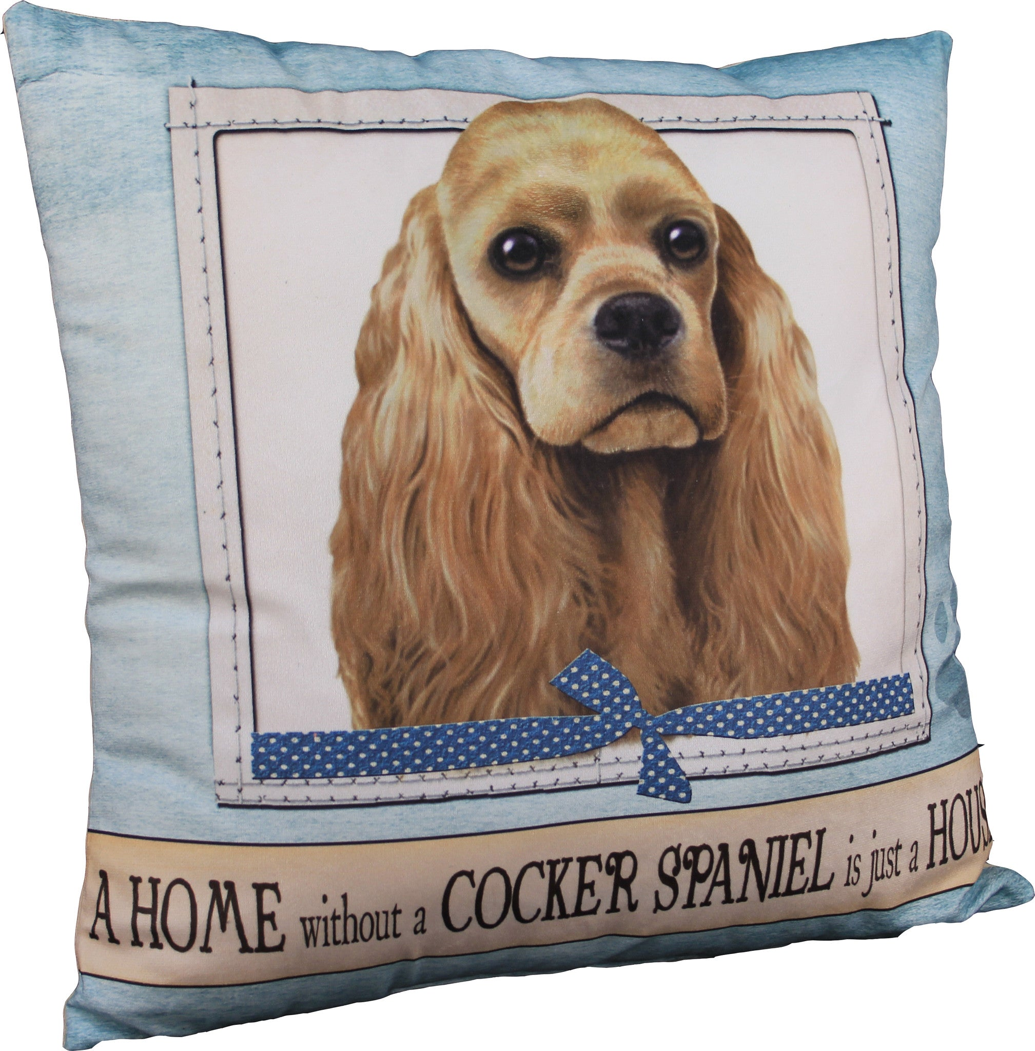 Cocker Spaniel Buff Dog Breed Throw Pillow