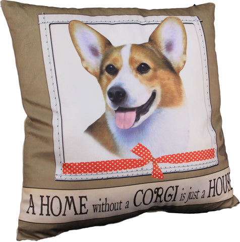 Corgi Dog Breed Throw Pillow
