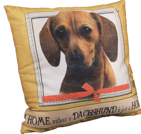 Dachshund Red Dog Breed Throw Pillow