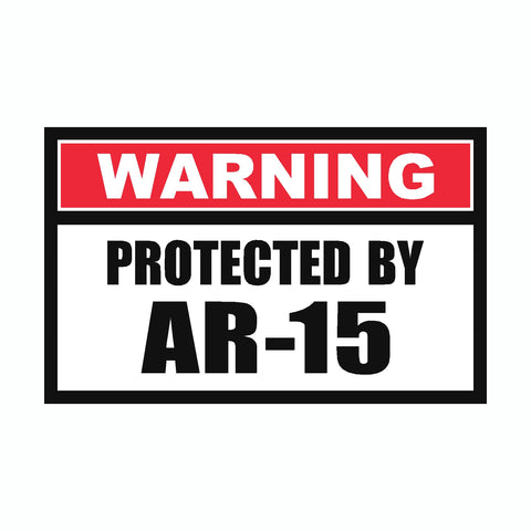 Assorted Protected By Pro 2nd Amendment Sticker