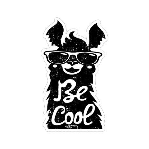 Be Cool Llama Vinyl Car Decal