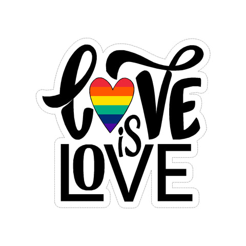 Love Is Love LGBT Vinyl Car Sticker