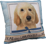 Labradoodle Yellow Dog Breed Throw Pillow