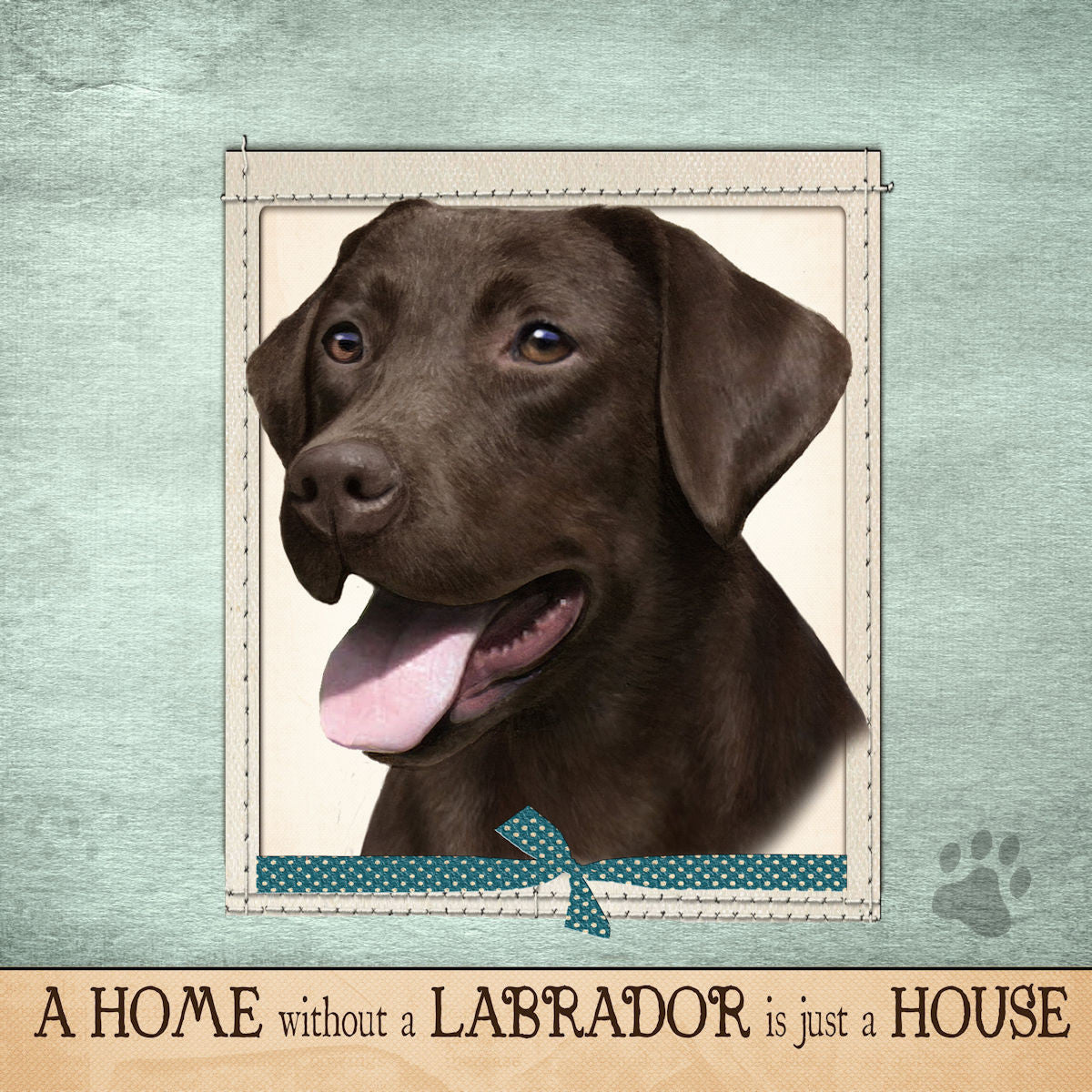 Labrador Retriever Chocolate Dog Breed Throw Pillow